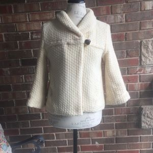 Free People Toggle Button Lined Sweater